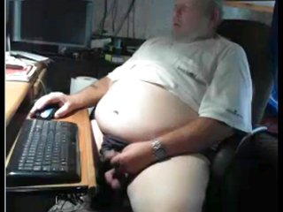 old man cum on cam